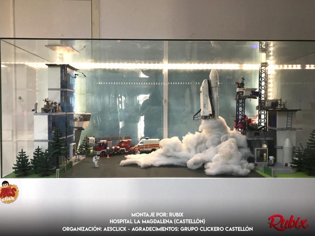 Diorama Playmobil Lanzamiento Espacial