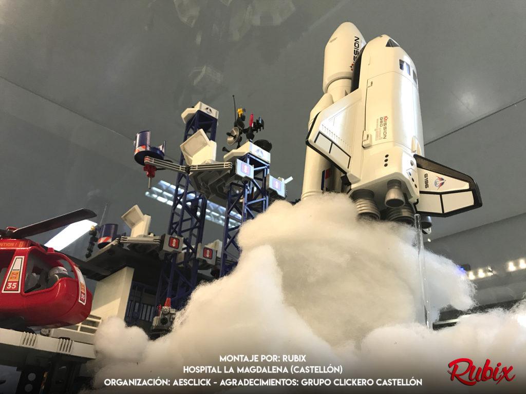 Lanzadera espacial maqueta playmobil
