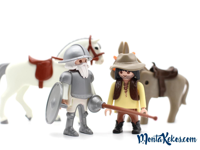Don Quijote de la Mancha y Sancho panza custom Playmobil